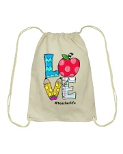 LOVE TEACHER Drawstring Bag thumbnail