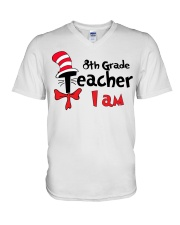 8TH GRADE TEACHER I AM V-Neck T-Shirt thumbnail