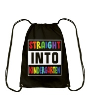 STRAIGHT INTO KINDERGARTEN Drawstring Bag thumbnail