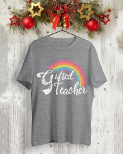 GIFTED TEACHER RAINBOW Classic T-Shirt lifestyle-holiday-crewneck-front-2