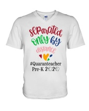 PRE-K QUARANTEACHER  V-Neck T-Shirt tile