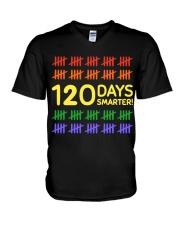 120 DAYS SMARTER V-Neck T-Shirt thumbnail