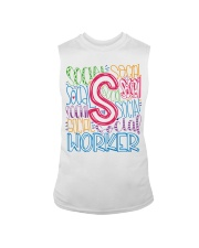 SOCIAL WORKER TYPOGRAPHIC DESIGN Sleeveless Tee thumbnail