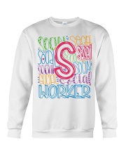 SOCIAL WORKER TYPOGRAPHIC DESIGN Crewneck Sweatshirt thumbnail