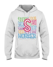 SOCIAL WORKER TYPOGRAPHIC DESIGN Hooded Sweatshirt thumbnail
