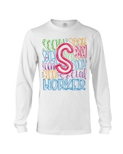 SOCIAL WORKER TYPOGRAPHIC DESIGN Long Sleeve Tee thumbnail