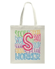 SOCIAL WORKER TYPOGRAPHIC DESIGN Tote Bag thumbnail