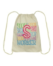 SOCIAL WORKER TYPOGRAPHIC DESIGN Drawstring Bag thumbnail