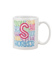 SOCIAL WORKER TYPOGRAPHIC DESIGN Mug thumbnail