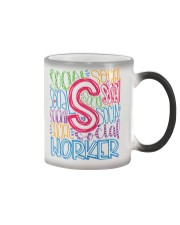 SOCIAL WORKER TYPOGRAPHIC DESIGN Color Changing Mug thumbnail