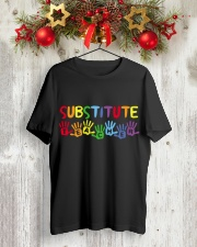 SUBSTITUTE TEACHER DESIGN Classic T-Shirt lifestyle-holiday-crewneck-front-2