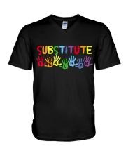 SUBSTITUTE TEACHER DESIGN V-Neck T-Shirt thumbnail