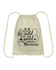 SHE BELIEVED SHE COULD CHANGE THE WORLD Drawstring Bag thumbnail