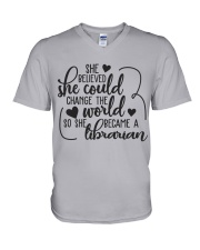 SHE BELIEVED SHE COULD CHANGE THE WORLD V-Neck T-Shirt thumbnail