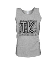 TRANSITIONAL-K TYPO Unisex Tank thumbnail