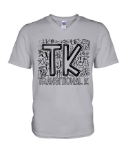 TRANSITIONAL-K TYPO V-Neck T-Shirt thumbnail