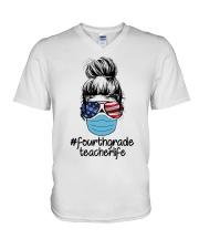 4TH GRADE 2020 LIFE V-Neck T-Shirt thumbnail