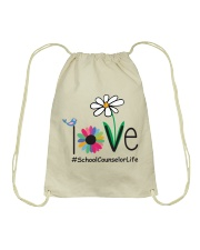 SCHOOL COUNSELOR LIFE Drawstring Bag thumbnail