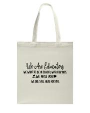 WE ARE EDUCATORS Tote Bag thumbnail