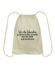 WE ARE EDUCATORS Drawstring Bag thumbnail
