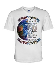 PRESCHOOL CHANGE W V-Neck T-Shirt thumbnail