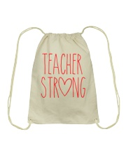 TEACHER STRONG Drawstring Bag thumbnail