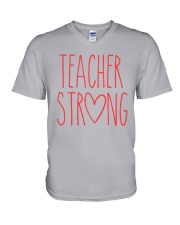 TEACHER STRONG V-Neck T-Shirt thumbnail