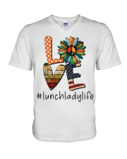 LUNCH LADY  V-Neck T-Shirt thumbnail