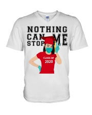RED - NOTHING CAN STOP ME V-Neck T-Shirt thumbnail
