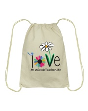 1ST GRADE TEACHER LIFE Drawstring Bag thumbnail