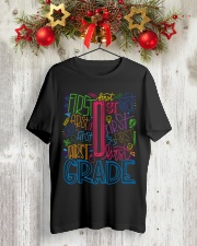 TYPO FIRST GRADE TEE Classic T-Shirt lifestyle-holiday-crewneck-front-2