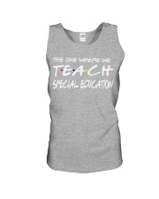 WHERE WE TEACH SPECIAL EDUCATION Unisex Tank thumbnail