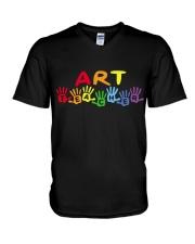ART TEACHER DESIGN V-Neck T-Shirt thumbnail