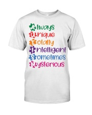 AUTISM MEANING Classic T-Shirt front
