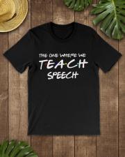 WHERE WE TEACH SPEECH Classic T-Shirt lifestyle-mens-crewneck-front-18