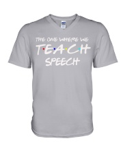 WHERE WE TEACH SPEECH V-Neck T-Shirt thumbnail