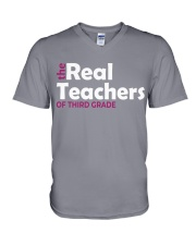 THE REAL TEACHERS OF THIRD GRADE V-Neck T-Shirt thumbnail