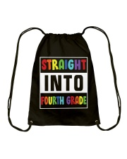 STRAIGHT INTO FOURTH GRADE Drawstring Bag thumbnail