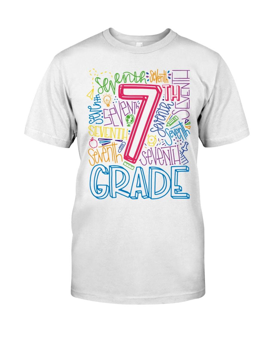 SEVENTH GRADE TYPOGRAPHIC  Classic T-Shirt