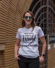 PRESCHOOL TEACHER CHANGE THE WORLD Ladies T-Shirt lifestyle-women-crewneck-front-2
