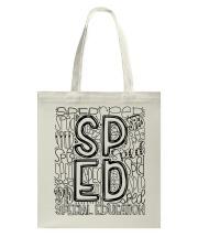 SPECIAL EDUCATION TYPO DESIGN Tote Bag thumbnail