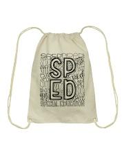 SPECIAL EDUCATION TYPO DESIGN Drawstring Bag thumbnail