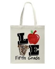 LOVE 5TH GRADE Tote Bag thumbnail