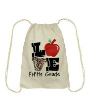 LOVE 5TH GRADE Drawstring Bag thumbnail