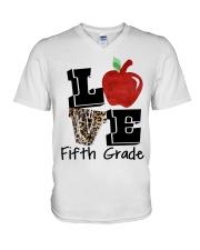 LOVE 5TH GRADE V-Neck T-Shirt thumbnail