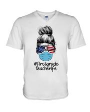 1ST GRADE 2020 LIFE V-Neck T-Shirt thumbnail