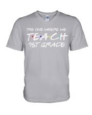 FIRST GRADE V-Neck T-Shirt thumbnail