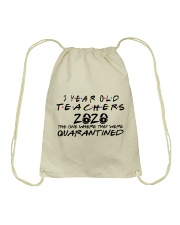 3 YEAR OLD TEACHERS Drawstring Bag tile