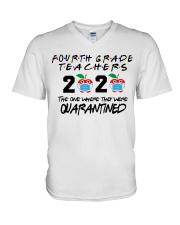 4TH GRADE TEACHER V-Neck T-Shirt thumbnail