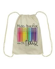 MUSIC TEACHER WITH FLAIR Drawstring Bag thumbnail